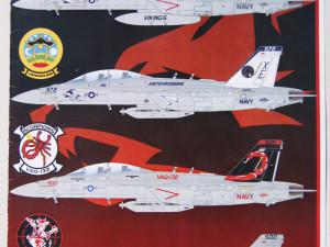 E/A-18G Superbug shockers (Afterburner Decals 48-061)