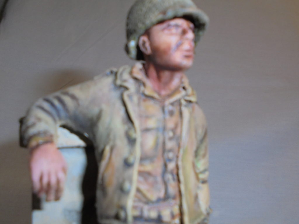 This is a 1/16th sculpt of a US infantryman from about 1943-1944. It's completely made from sp